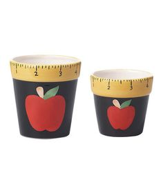 Look what I found on #zulily! Ruler & Apple Pot - Set of Two #zulilyfinds