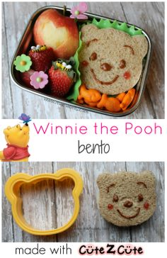 Winnie the Pooh bento {with link party} - mamabelly.com