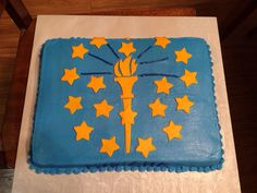 This is another cake I made for the 4th grade Indiana birthday celebration.