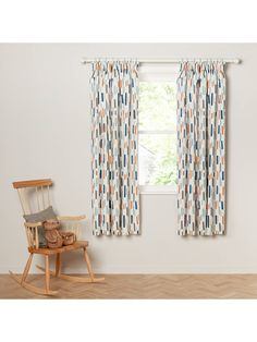 a5f84d3a5c0f Buylittle home at John Lewis Fragments Pencil Pleat Blackout Lined Children's  Curtains, Blue, W117
