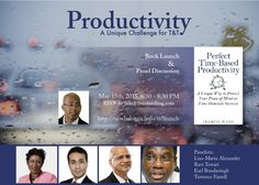 Perfect Time-Based Productivity is being launched in Port of Spain, Trinidad on May 15th. Let me know if you would like to attend! http://tt/newhabitsja.info/launch