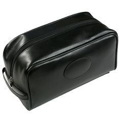 Made from upgraded soft smooth water resistant leather which means dirt, water and stains are easily removed, making it long lasting and a hard wearing leather. This compact stylish wash bag features both internal and external zipped pockets and carry strap.   Available in Black   Price includes either Blind Blocking or Foil Blocking in gold or silver.   Multi-Coloured Blocking or Debossed printing available on request   Dimensions: 230 x 115 x 130mm
