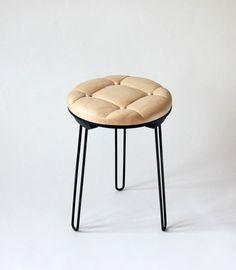 Softostool (solid oak & iron) byVeronika Wildrguber.