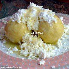 Tvarohové ovocné knedlíky s meruňkami .............jednoduché a velice rychlé s podrobným postupem Czech Recipes, Ethnic Recipes, Gnocchi, Macaroni And Cheese, Rice, Czech Food, Mascarpone, Mac And Cheese