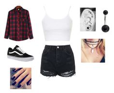 """Untitled #350"" by tionnenicole on Polyvore featuring Vans, Topshop and Lottie"