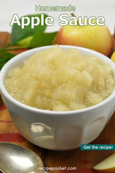 Applesauce Recipes Canning, Recipe Using Applesauce, Canned Applesauce, Homemade Applesauce, Apple Recipes, Baby Food Recipes, Healthy Recipes, Three Ingredient Recipes, Fried Pork