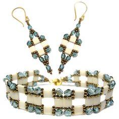 New Pattern! Tila Squared Bracelet and Earrings