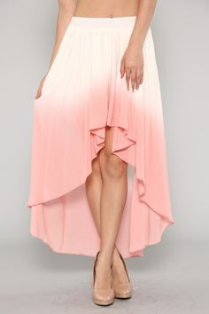 Ombre High Low Skirt