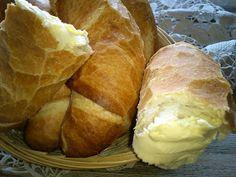 Magyar ízek tárháza: Egyszerű kifli Bakery, Bread, Cheese, Desserts, Recipes, Food, Tailgate Desserts, Meal, Bakery Shops