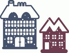 Silhouette Design Store - View Design #50896: snowy houses