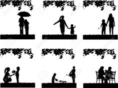 Illustration of Mother s day celebration between mother and daughter in park, beautiful concept wallpaper for happy mother s day celebration, one in the series of similar images silhouette vector art, clipart and stock vectors. Fashion Silhouette, Silhouette Vector, Happy Mother S Day, Happy Mothers, Mother And Child Pictures, Fashion Wallpaper, Photo Canvas, Image Photography, Royalty Free Images