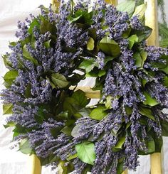 lavender wreath by Circle Home and Design