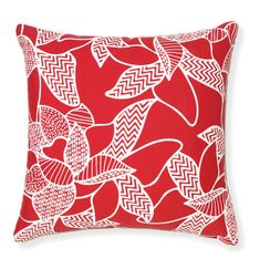 Rapee Riviera Lily Red Pillow design by Selamat