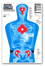 B27-IMZ Life Size Silhouette Paper Shooting Targets by Thompson