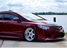 FD2 conversion in custom burgundy color, 18x9.5 +15 Brada BR5 wheels - Jennifer