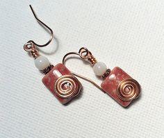 Rose Storeware Puffed Rectangle Beads and by Justatishdesigns