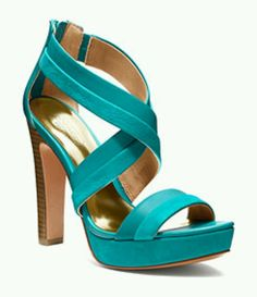 Turquoise coach heels