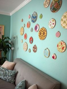 embroidery wall hoops  see more ideas http://lomets.com/pin/embroidery-wall-hoops/