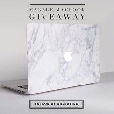 White marble MacBook skin | www.uniqfind.com | #marblemac #uniqfind
