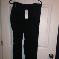 Oh, Ma! Maternity cords Brand new with tags black maternity corduroy pants Other