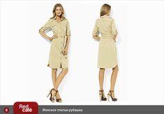 Shirt Dress pattern and cut