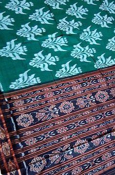 Green Cotton Handloom Sambalpur Saree Product Code: LWSMSGM36