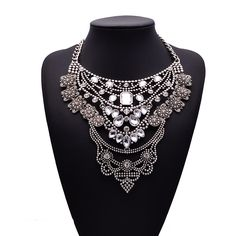 8.04€ - Metal Collar Maxi Multi layer Statement Necklace 1771 - Best Lady Jewelry Store