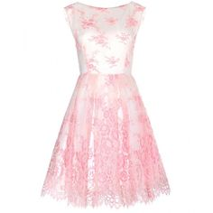 Alice + Olivia Fila Lace Dress ($490) ❤ liked on Polyvore featuring dresses, vestidos, short dresses, pink, short cream dress, pink lace cocktail dress, lace dress, lace mini dress and mini dress