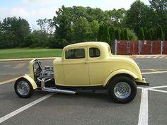 American Graffiti 32 Ford   1932 Ford 5 Window Coupe American Graffiti Tribute Yellow with Black ...