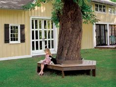 Build a restful place in the shade of your favorite tree with this attractive backyard fixture. TIP: Use decay- and termite-resistant wood like we did in this project