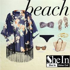 #beach by decor-ab on Polyvore featuring polyvore fashion style Zimmermann Abercrombie & Fitch Madewell Gorjana Wolfnoir shein
