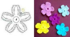 вяжем маленькие цветы крючком - Поиск в Google