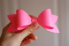 How to make a paper bow. Cute for packages.