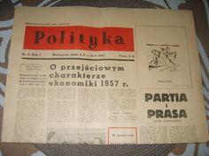 Czasopismo Polityka 1957r