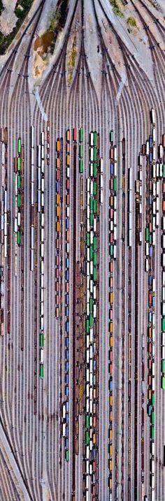 ♚༺S༻♚ Inman Railroad Yard, Atlanta Georgia Locomotive, Train Miniature, Train Pictures, Drones, Model Train Layouts, Aerial Photography, Night Photography, Train Tracks, Birds Eye View