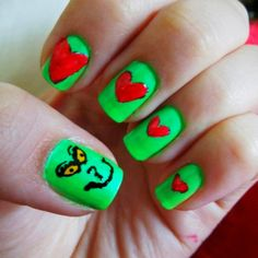 Grinch nails :)