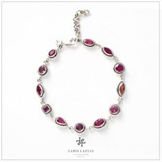Red & Pink Spinel Rope Bracelet Red Spinel, Gemstone Bracelets, Red And Pink, Gemstones, Silver, Jewelry, Jewlery, Money, Bijoux