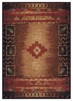 The Tribal Place rug has rustic appeal and a Native American style look you'll love.