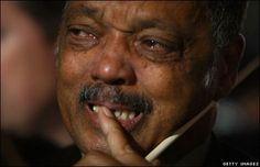 Civil Right Activist Jesse Jackson tears for President Obama