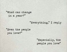 What can change in a year?  Everything.  Even the people you love? Especially the people you love.