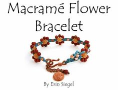 TUTORIAL Macrame Flower Bracelet. $15.00, via Etsy.