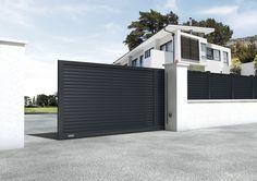 Portones correderos / de aluminio / de panel / para uso residencial ELIXIUM® DIRICKX GROUPE