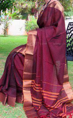 Elegant Woven Handloom Cotton Saree