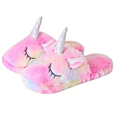 Anddyam Kids Family Unicorn Slippers Household Anti-Slip Indoor Home Slippers for Girls and Boys Big Kid Years) Cute Unicorn, Unicorn Gifts, Unicorn Outfit, Girls Unicorn Slippers, Slippers For Girls, Kids Slippers, Unicorn Room Decor, Unicorn Rooms, Unicorn Store