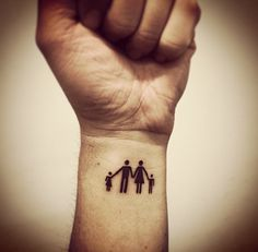Family tattoo: daughter/dad/mom/son