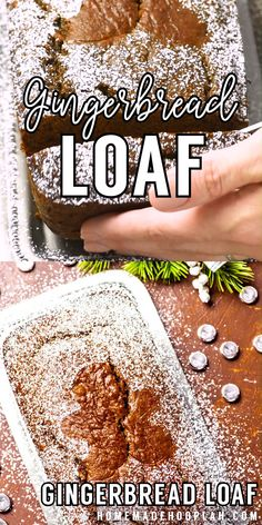 This easy gingerbread loaf combines the classic taste of gingerbread cookies inside a soft and moist home baked bread. Perfect for holiday snacking or gifting! Holiday Snacks, Christmas Desserts, Holiday Recipes, Easter Recipes, Gingerbread Loaf Recipe, Gingerbread Cake, Gingerbread Houses, How To Make Gingerbread, Loaf Recipes