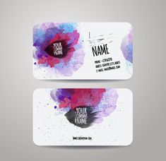 watercolor grunge business cards