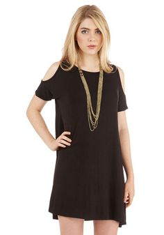 Chics for Itself Dress. Youre speechless when it comes to how much you adore this black shift dress! #black #modcloth