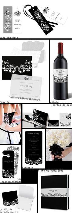 Casamento em preto e branco