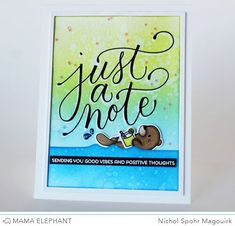 Mama Elephant Just A Note | Good Vibes and Positive Thoughts Card!